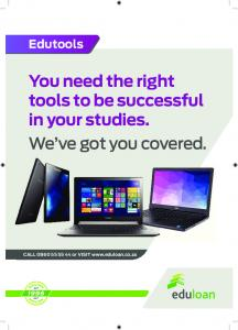 You need the right tools to be successful in your studies. We ve got you covered