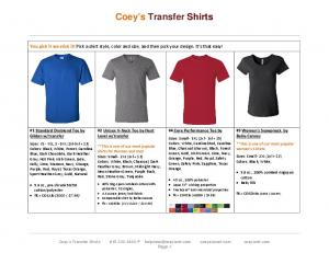 You pick it we stick it! Pick a shirt style, color and size, and then pick your design. It s that easy!