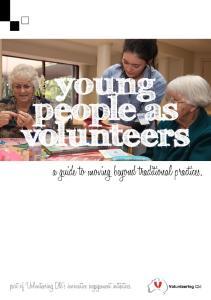 young people as volunteers