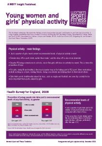Young women and girls physical activity