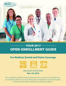 YOUR 2017 OPEN-ENROLLMENT GUIDE