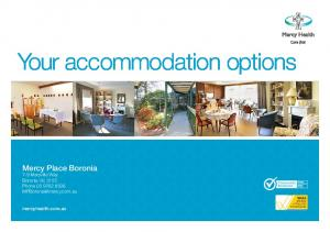 Your accommodation options
