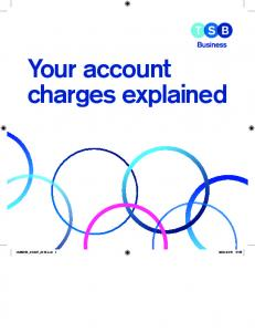 Your account charges explained