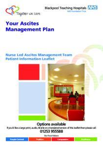 Your Ascites Management Plan