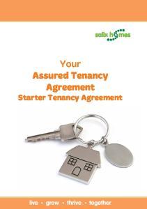 Your Assured Tenancy Agreement Starter Tenancy Agreement