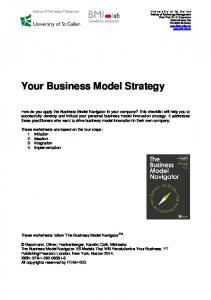 Your Business Model Strategy