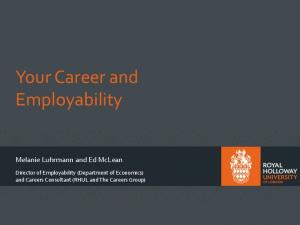 Your Career and Employability