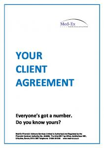 YOUR CLIENT AGREEMENT