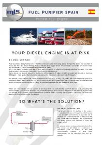 YOUR DIESEL ENGINE IS AT RISK