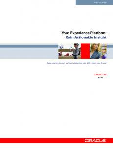 Your Experience Platform: Gain Actionable Insight