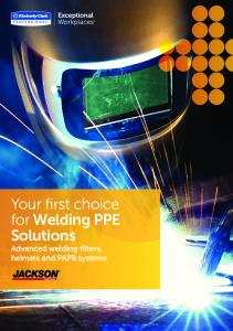 Your first choice for Welding PPE Solutions. Advanced welding filters, helmets and PAPR systems
