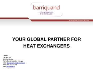 YOUR GLOBAL PARTNER FOR HEAT EXCHANGERS
