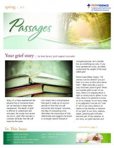 Your grief story by Kate Sproul, grief support counselor