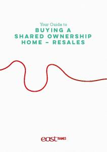 Your Guide to. buying a shared ownership home resales