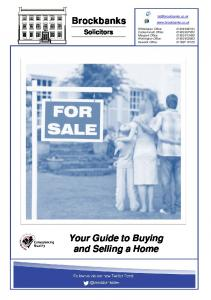 Your Guide to Buying and Selling a Home