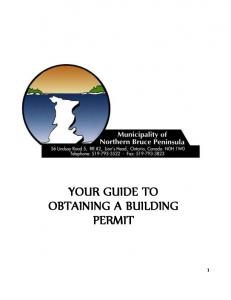 YOUR GUIDE TO OBTAINING A BUILDING PERMIT
