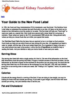 Your Guide to the New Food Label