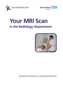 Your MRI Scan in the Radiology Department