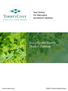 Your Partner For Alternative Investment Solutions Private Equity Market Outlook