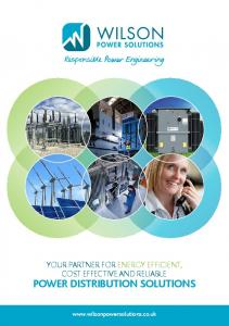 YOUR PARTNER FOR ENERGY EFFICIENT, COST EFFECTIVE AND RELIABLE POWER DISTRIBUTION SOLUTIONS