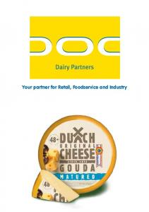 Your partner for Retail, Foodservice and Industry