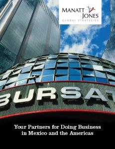 Your Partners for Doing Business in Mexico and the Americas