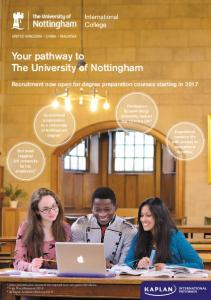 Your pathway to The University of Nottingham