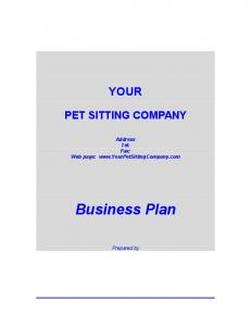 YOUR PET SITTING COMPANY