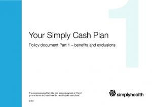 Your Simply Cash Plan