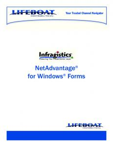 Your Trusted Channel Navigator. NetAdvantage for Windows Forms