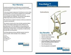 Your Warranty. Key Benefits. Instructions