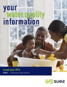 your water quality information