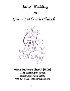 Your Wedding at Grace Lutheran Church