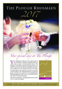 Your wedding day will be the most important day of. Your special day at The Plough