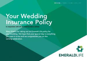 Your Wedding Insurance Policy
