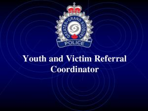 Youth and Victim Referral Coordinator