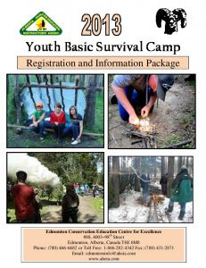 Youth Basic Survival Camp Registration and Information Package