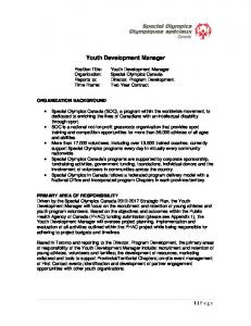 Youth Development Manager