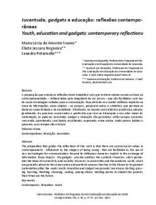 Youth, education and gadgets: contemporary reflections