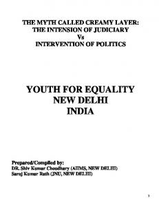 YOUTH FOR EQUALITY NEW DELHI INDIA