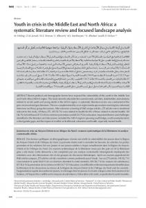 Youth in crisis in the Middle East and North Africa: a systematic literature review and focused landscape analysis