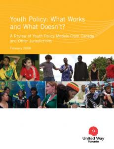 Youth Policy: What Works and What Doesn t?