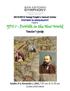 YPC 1 - Dvořák in the New World