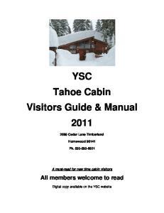 YSC Tahoe Cabin Visitors Guide & Manual 2011