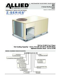 Z-Series Rooftop Units 50 HZ
