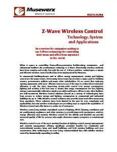 Z-Wave Wireless Control Technology, System and Applications