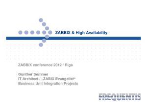 ZABBIX & High Availability