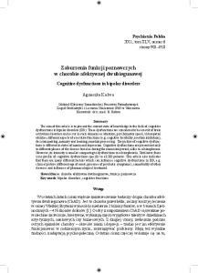 Zaburzenia funkcji poznawczych w chorobie afektywnej dwubiegunowej