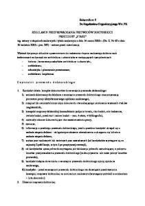 Załącznik nr 2 Do Regulaminu Organizacyjnego WA PK