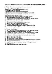 Zagadnienia na egzamin z przedmiotu Komputerowe Systemy Pomiarowe (2007) :